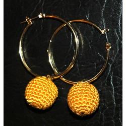 Creolen Ohrringe – Kugel ohne Stickerei